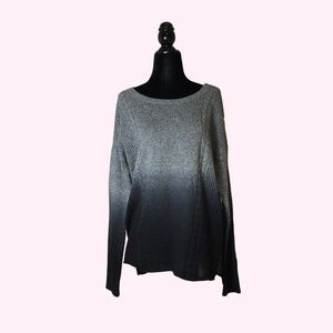 American Eagle Ombre Grey Knit Sweater
